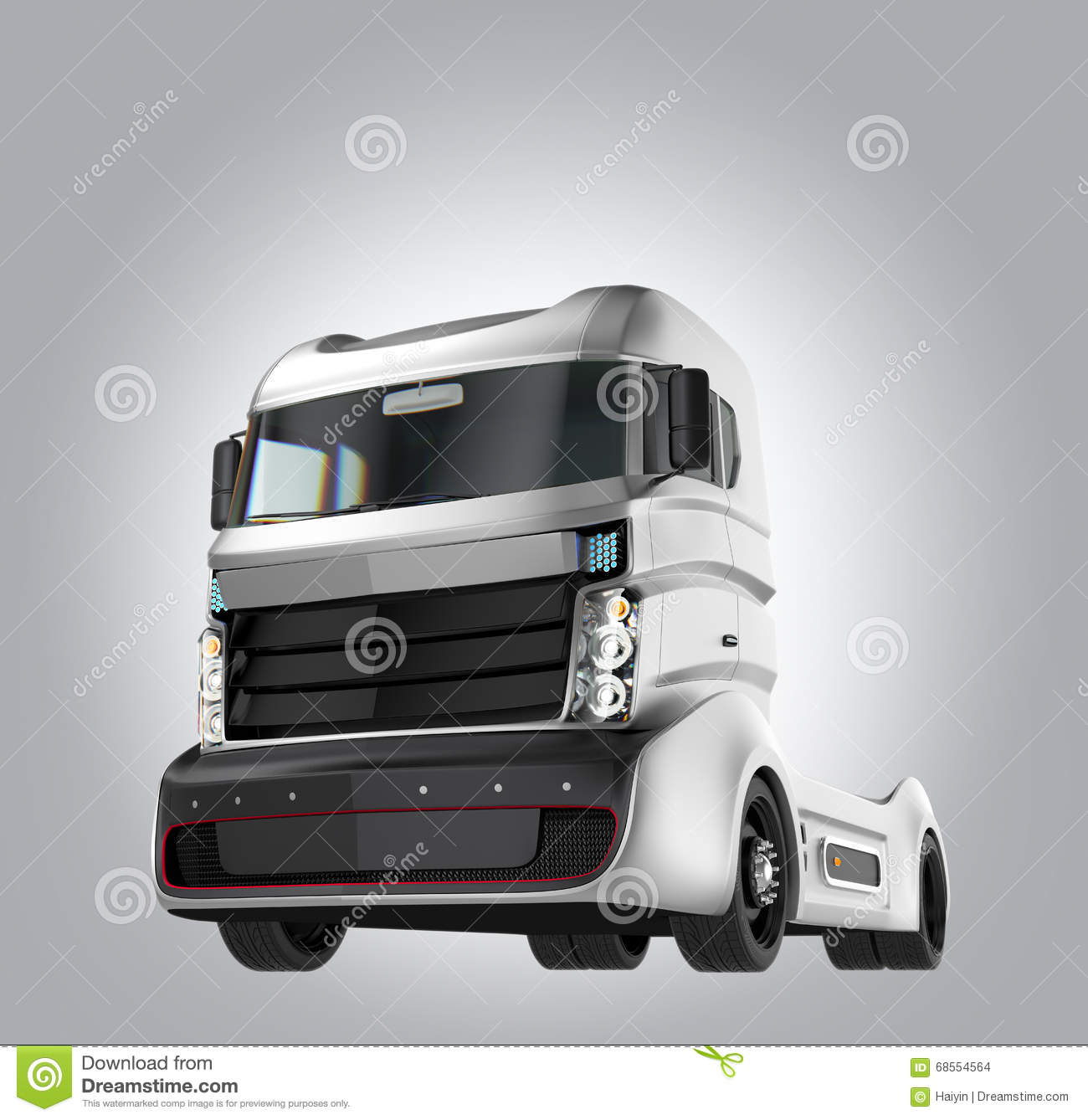 hybrid electric truck on gray background stock photo image 68554564. Black Bedroom Furniture Sets. Home Design Ideas