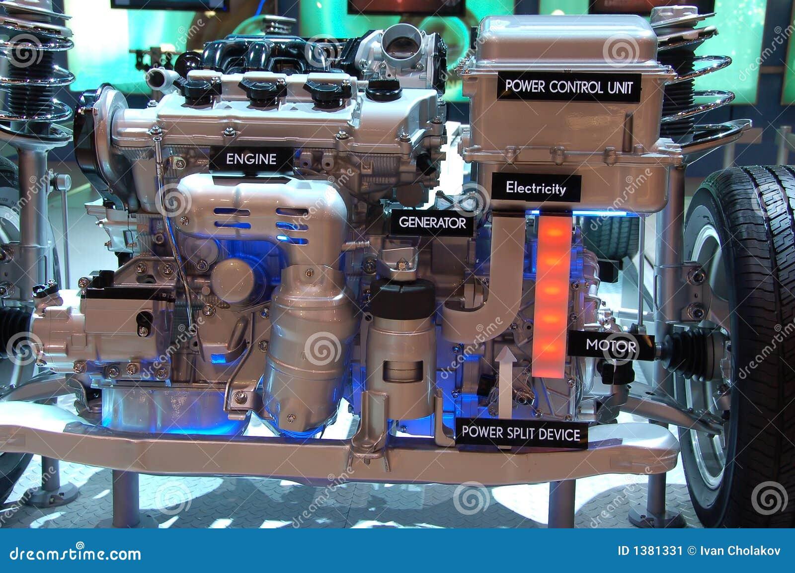 Hybrid Gas Electric Engine Stock Image