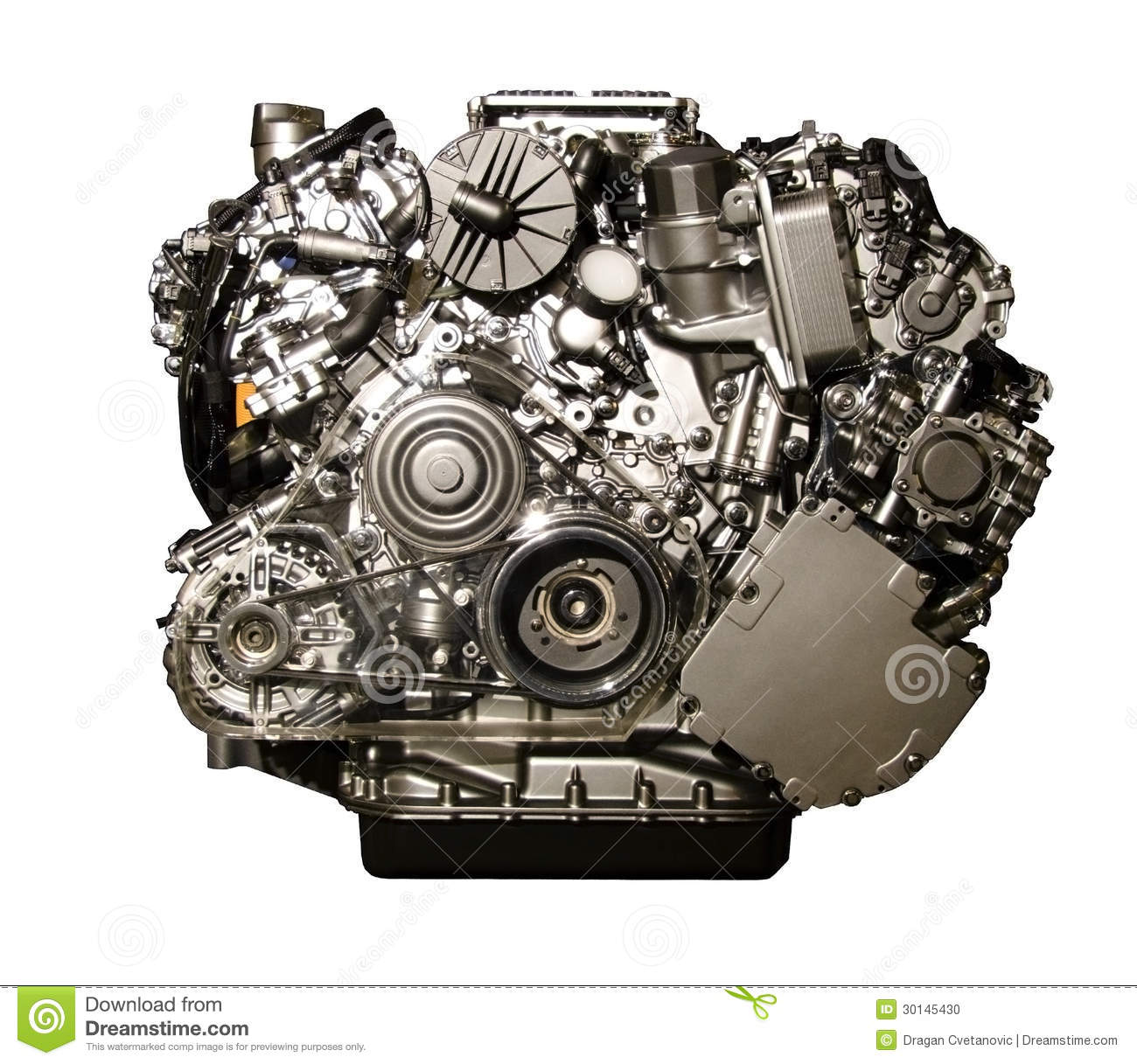 hybrid car engine from mercedes stock photo image 30145430