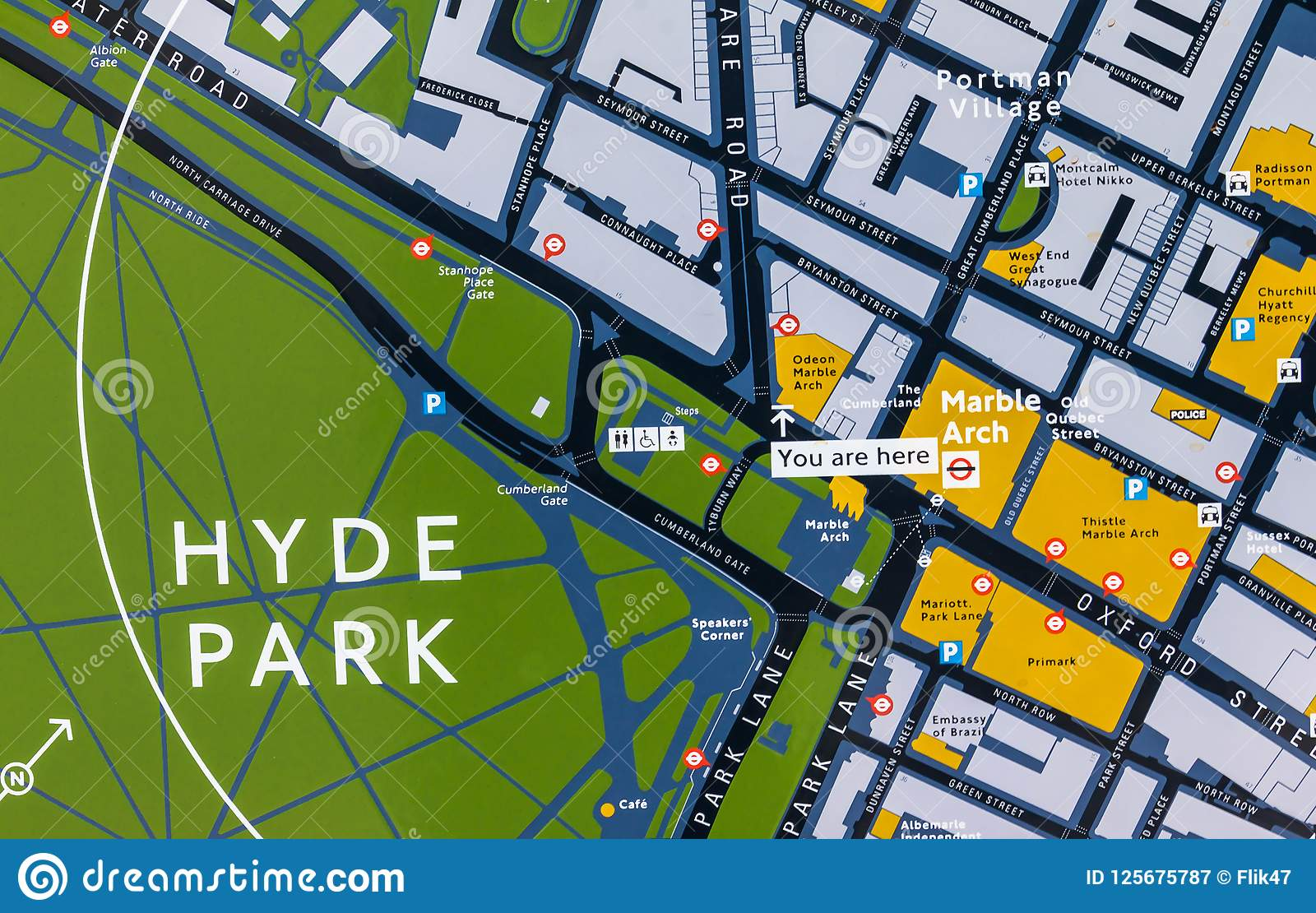 Map Of England 2015.Hyde Park London Uk Map Editorial Photography Image Of England