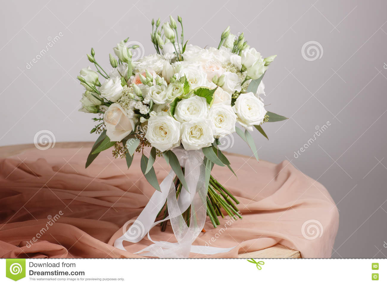 Hydrangea Rich Bouquet Vintage Floristic Background Colorful Roses Antique Scissors And A Rope On An Old Wooden Table Stock Image Image Of Antique Floral 75744985