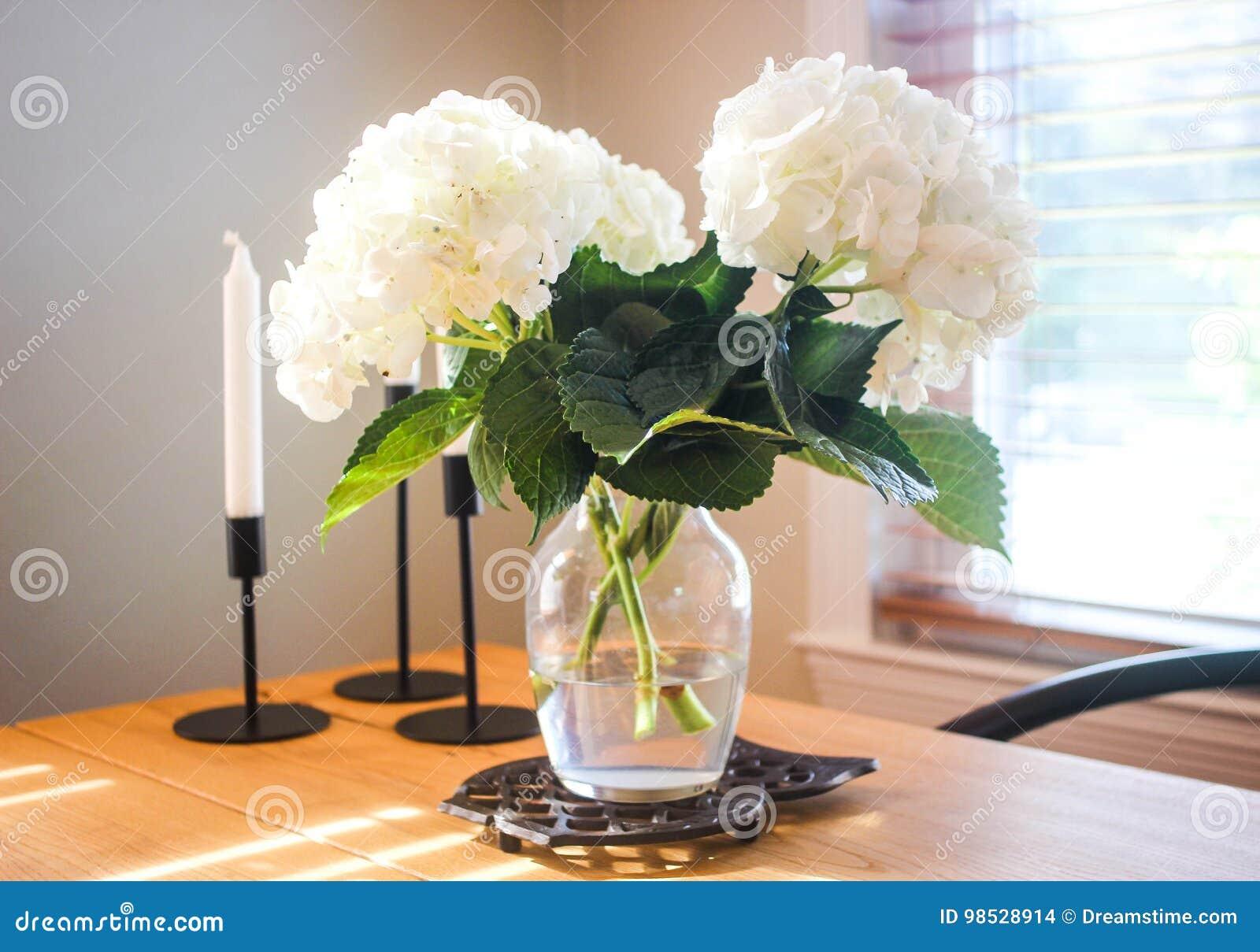 hydrangeas im vase stockfoto bild von ausgew hlt garten 98528914. Black Bedroom Furniture Sets. Home Design Ideas