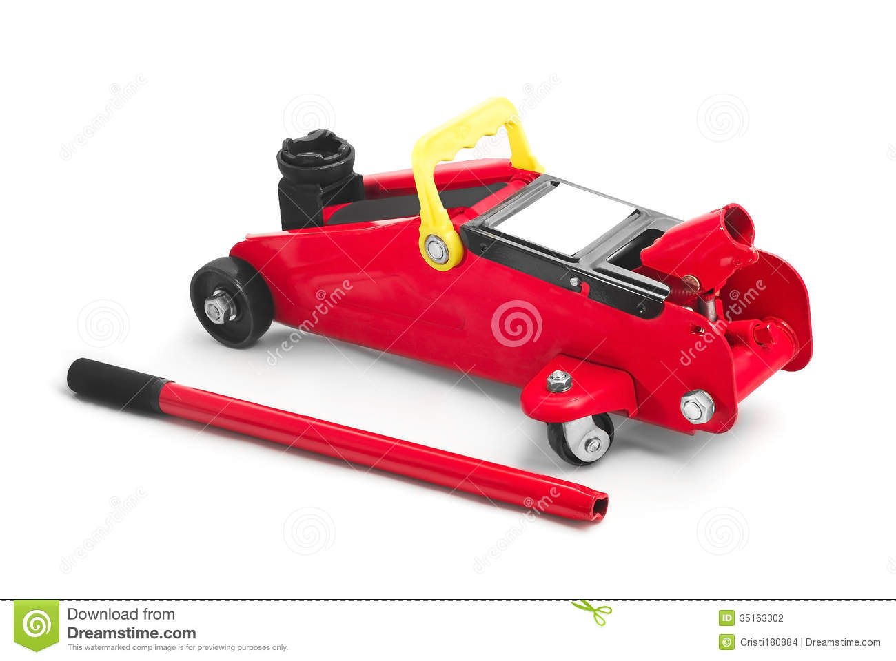 Hydraulic car jack stock photo. Image of background ...
