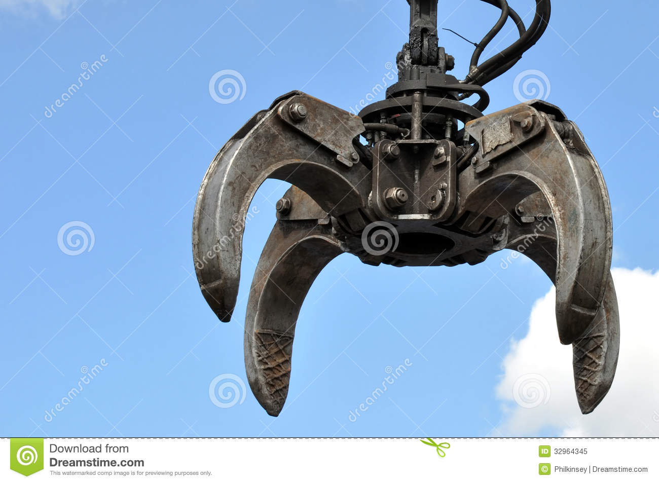 Hydraulic Claw Crane Royalty Free Stock Photo - Image ...