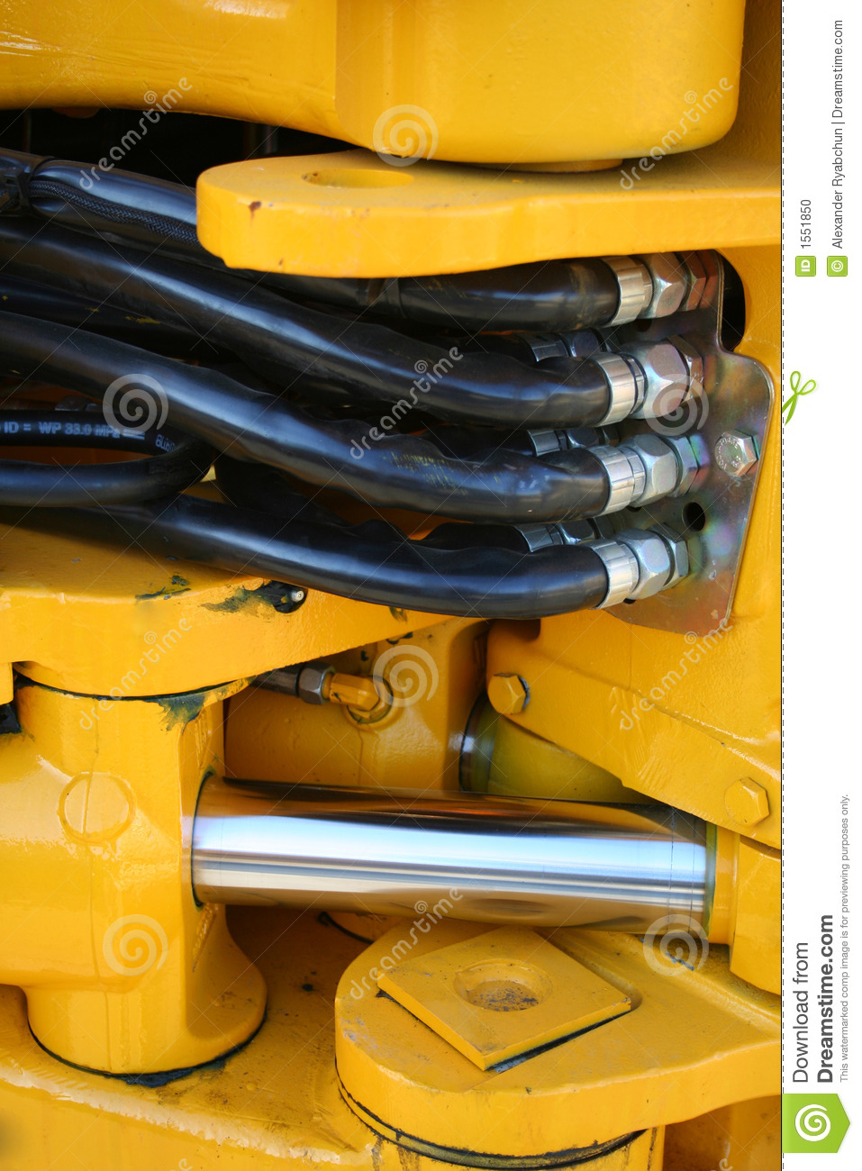 Hydraulic elements of the heavy building bulldozer