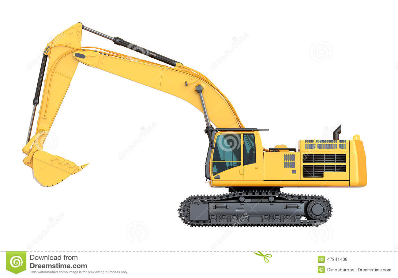 hydraulic excavator side view stock photo image bulldozer clip art free clipart bulldozer track