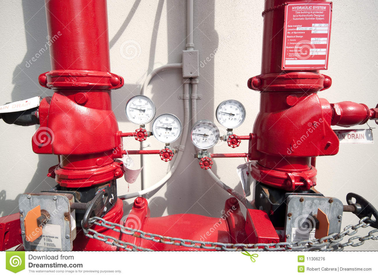 hydraulic fire sprinkler system connection stock photo image 11306276. Black Bedroom Furniture Sets. Home Design Ideas