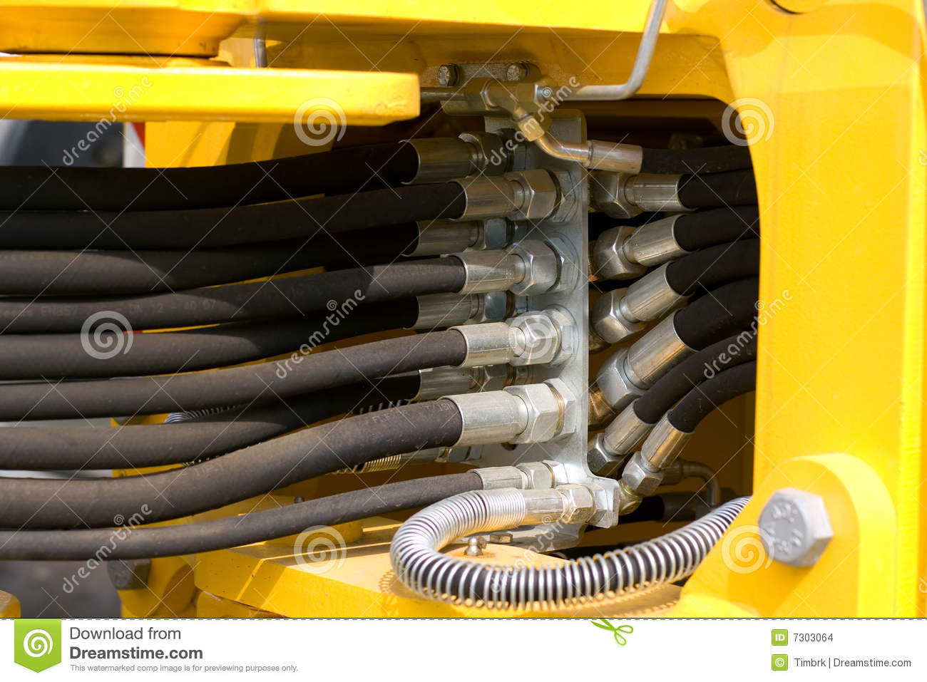 Hydraulic Hoses Stock Photo Image Of Cable Rubber