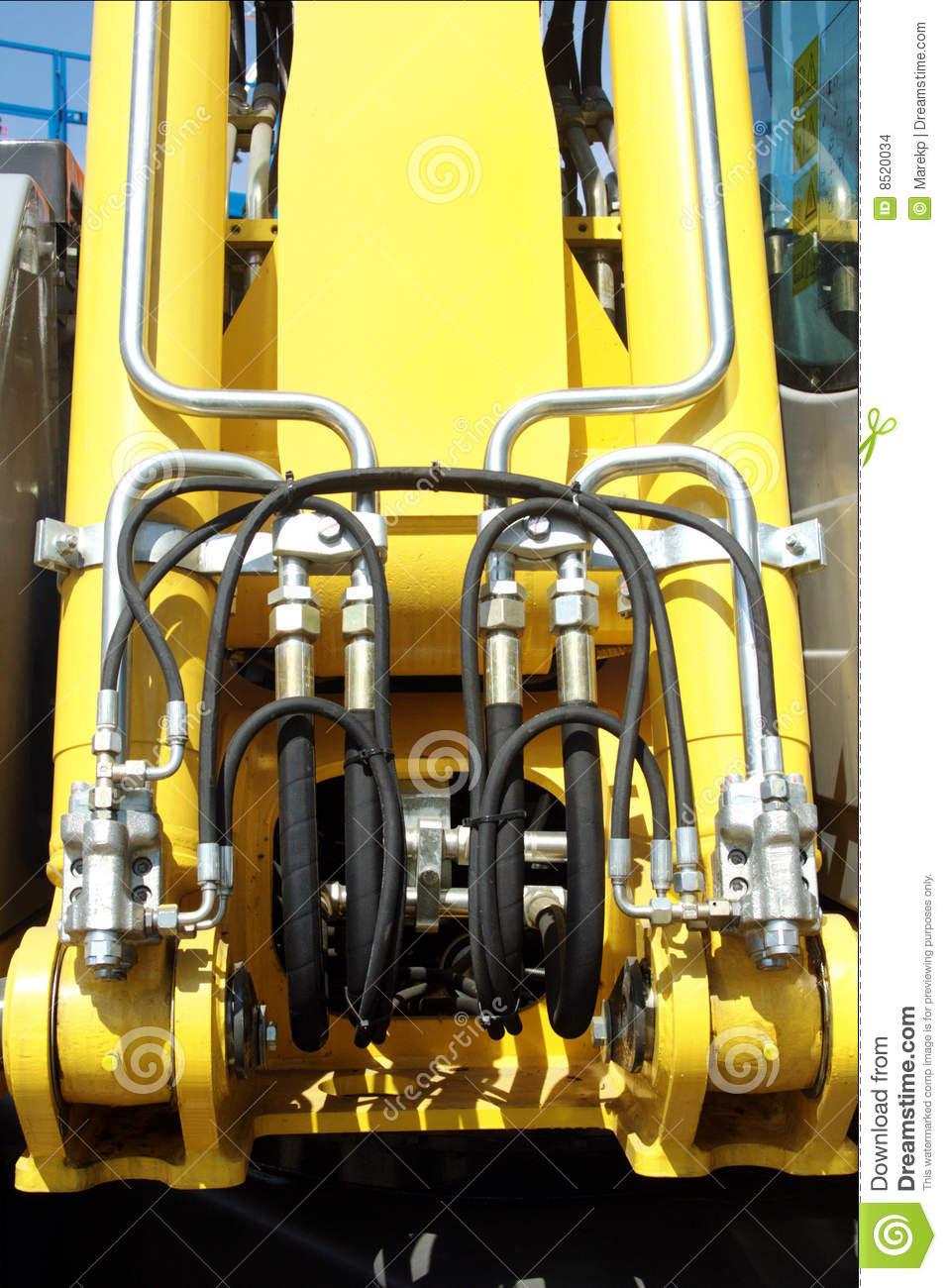 Hydraulic Lift Pressure Pipes System Stock Images Image