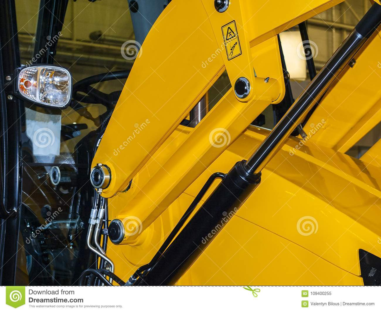 Lifting Mechanism Of Loader Stock Image - Image of rebaltabile