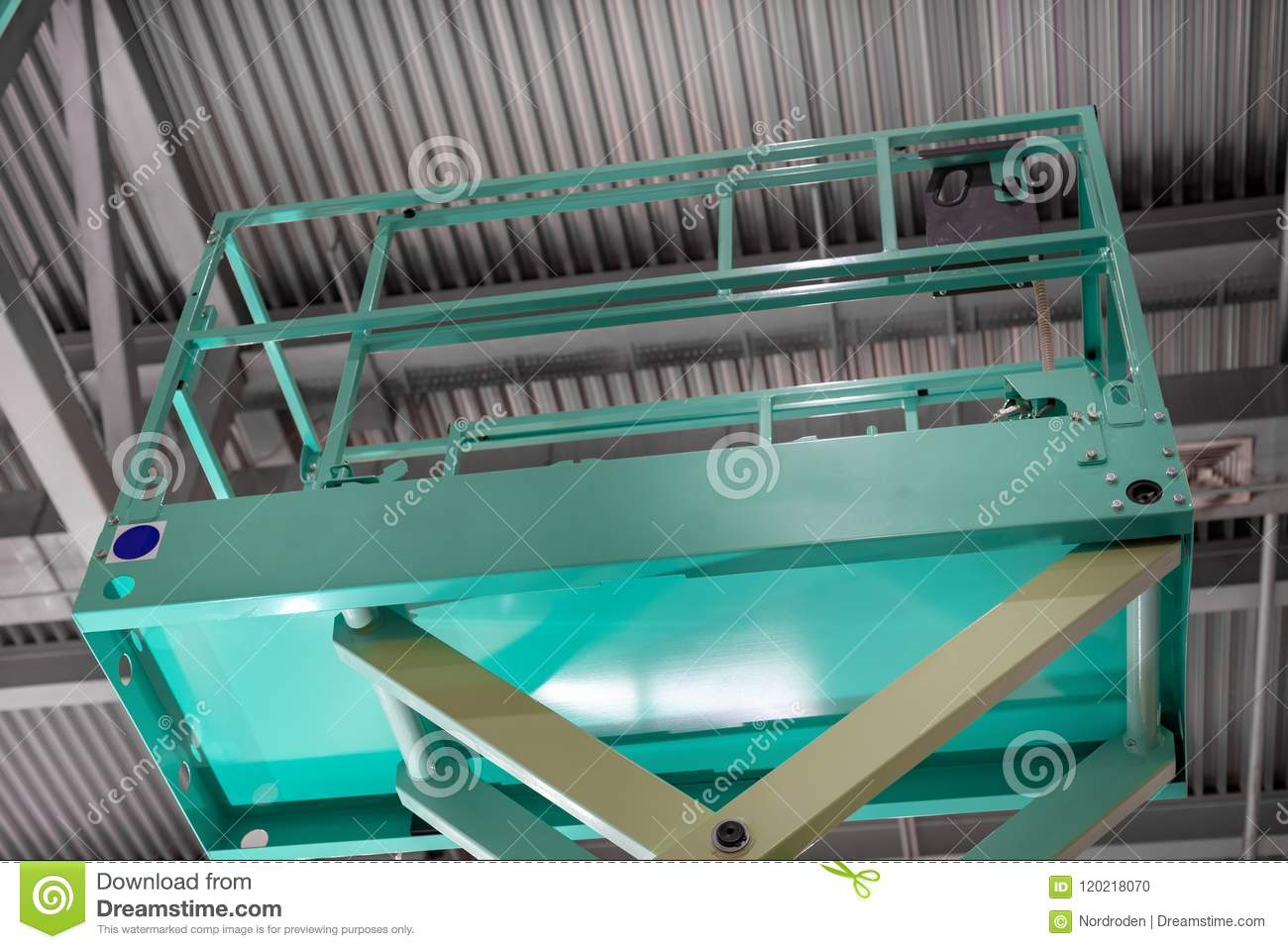 Hydraulic Scissor Lift Platform  The Platform Of The Lift Is Raised