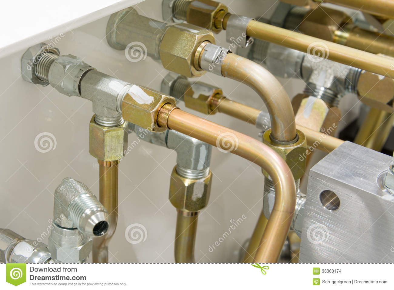 Tractor Tool Tube : Hydraulic tubes stock images image