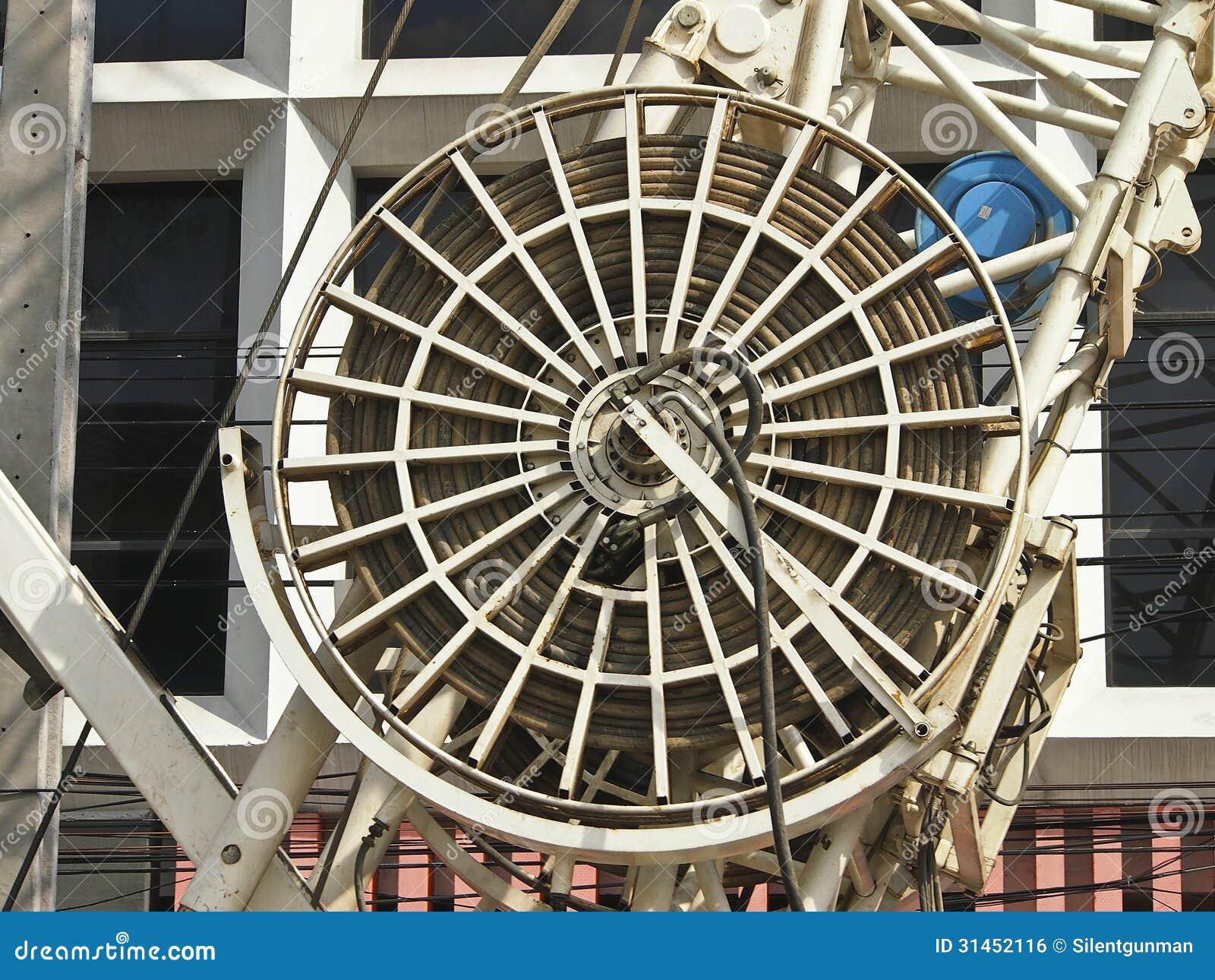 Hydraulic Wheel Drive System : Hydraulic wheel royalty free stock image