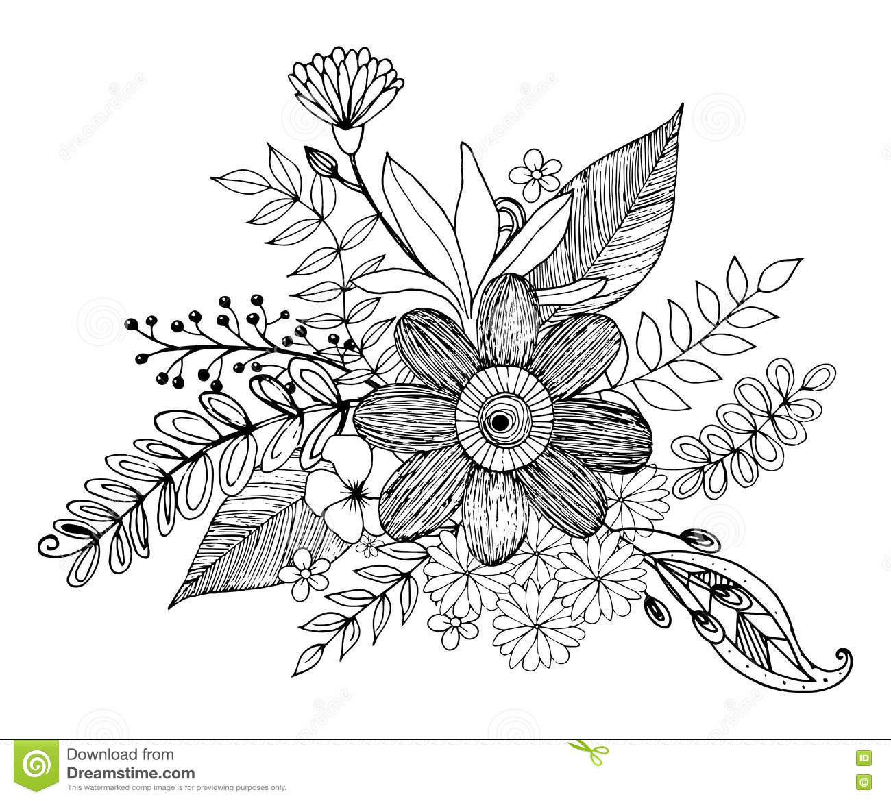 Designed Triange Coloring Page