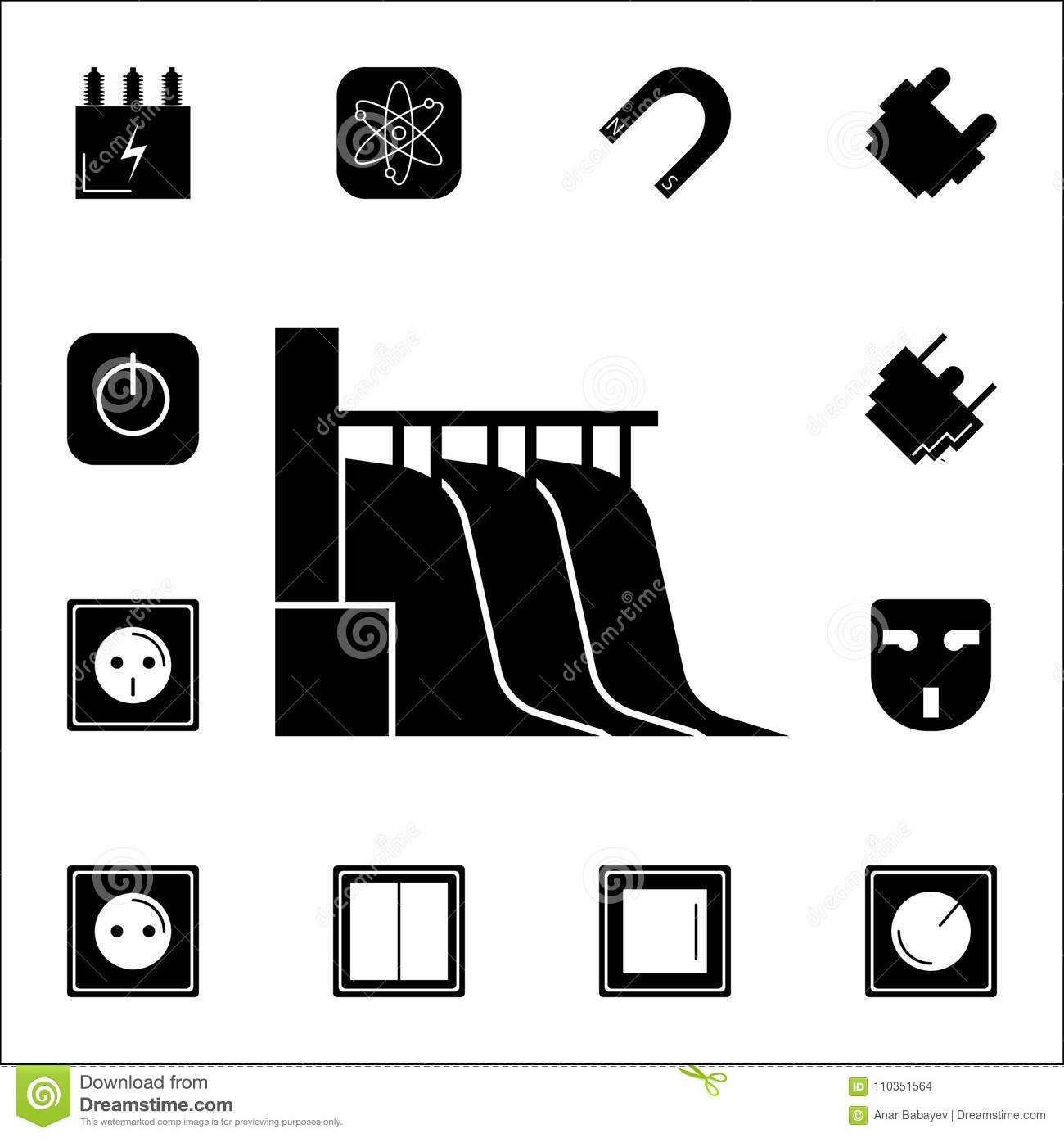 Hydro power station icon set of energy icons premium quality hydro power station icon set of energy icons premium quality graphic design icons signs and symbols collection icons for websit biocorpaavc Gallery