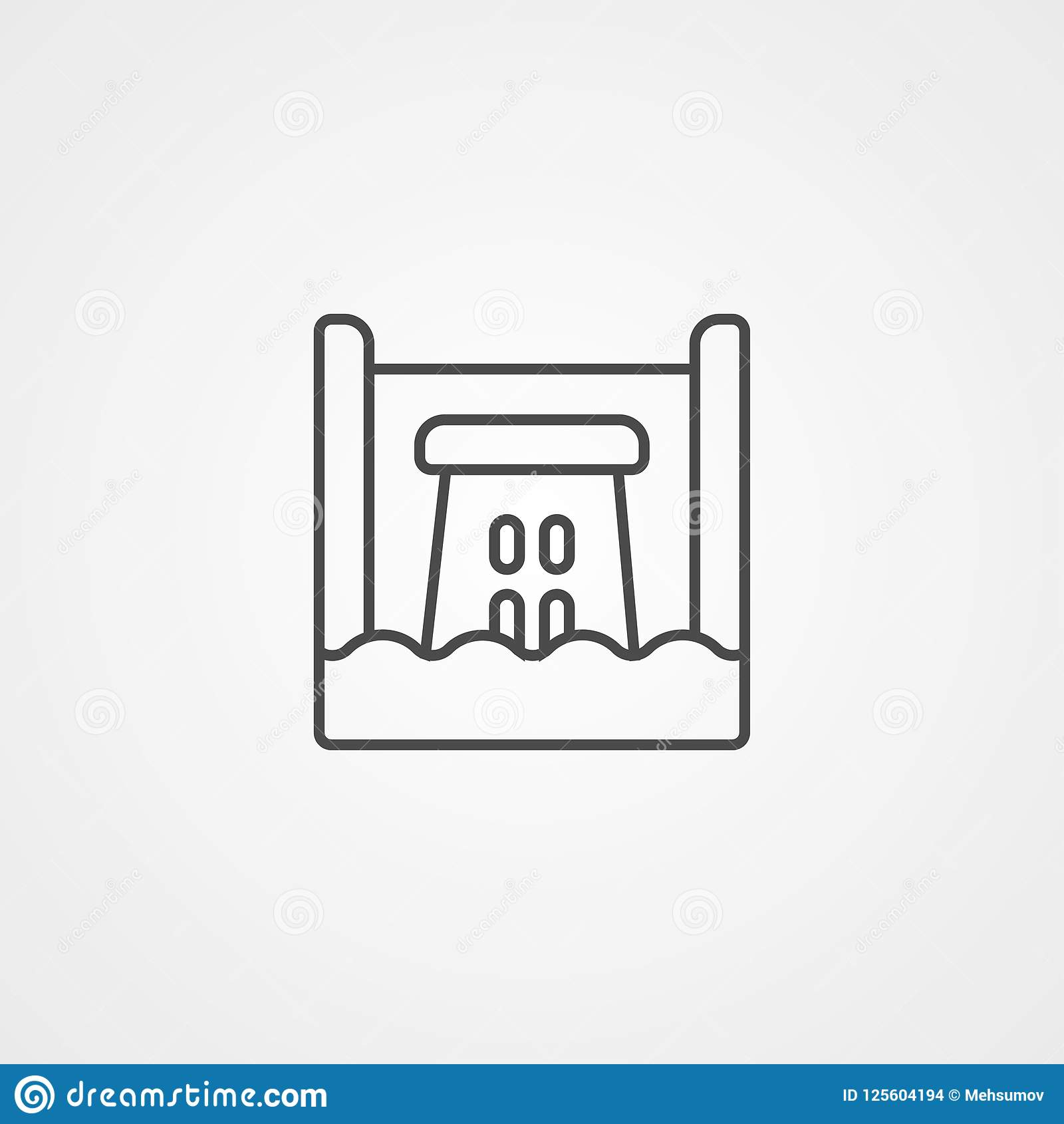 Hydro Power Vector Icon Sign Symbol Stock Vector Illustration Of