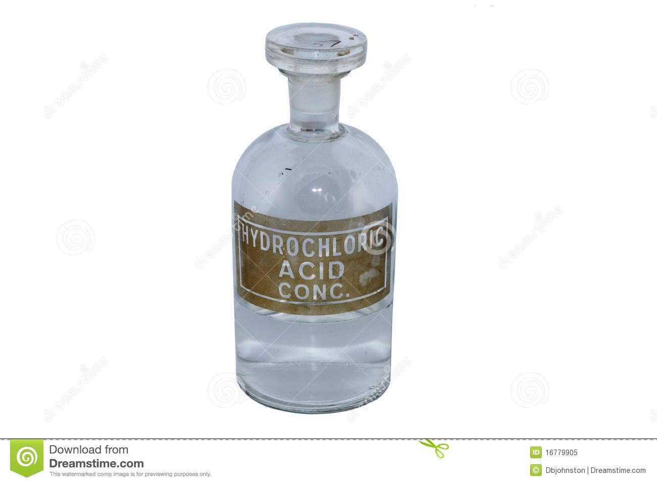 Hydrochloric Acid Bottle Royalty Free Stock Photo - Image: 16779905