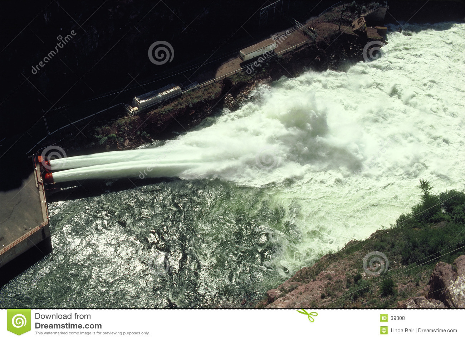 Hydroelektrischer VerdammungSpillway