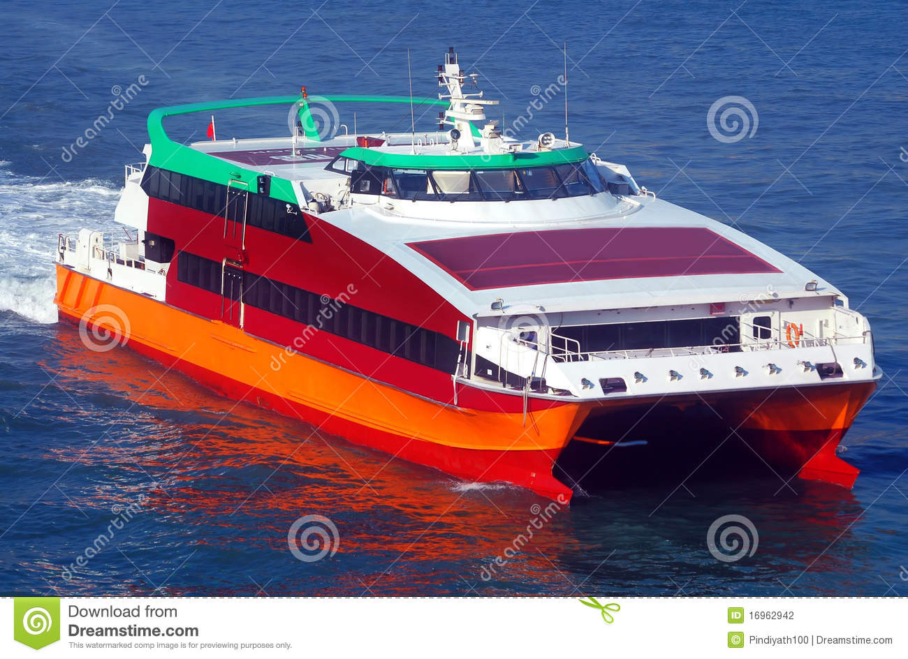 hydrofoil boat stock photography