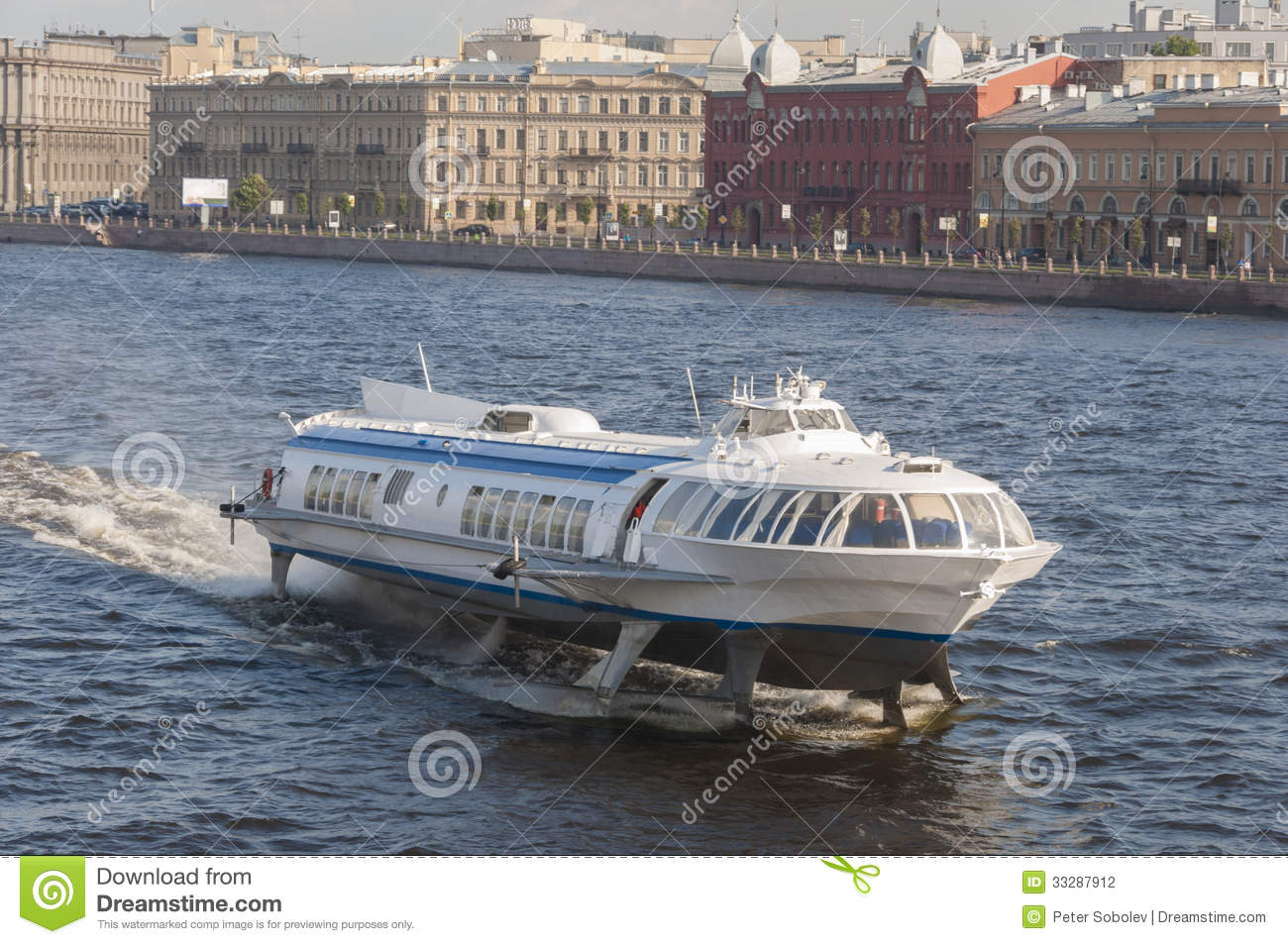 Hydrofoil Boat Stock Photography - Image: 33287912