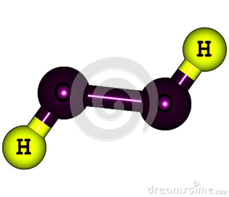 Hydrogen Peroxide H2o2 Molecular Structure Isolated On White Stock