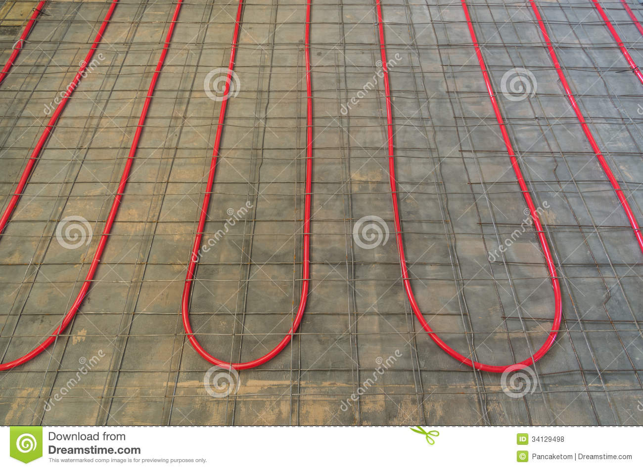 Hydronic Heating Pex Tubing Stock Photo Image Of Wire