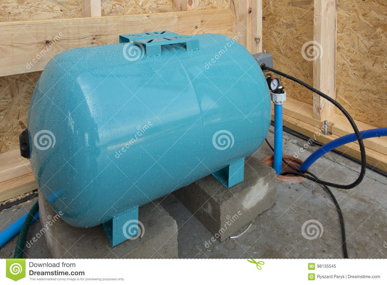 Hydrophore Or Water Tank Equalizing The Pressure Stock Image - Image