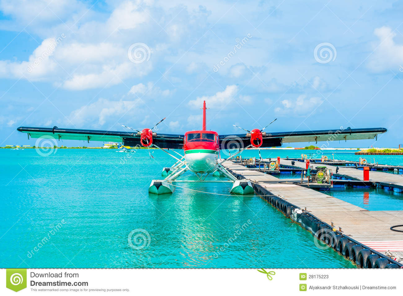 Aeroporto Male : Hydroplane at male airport maldives stock image image of glider