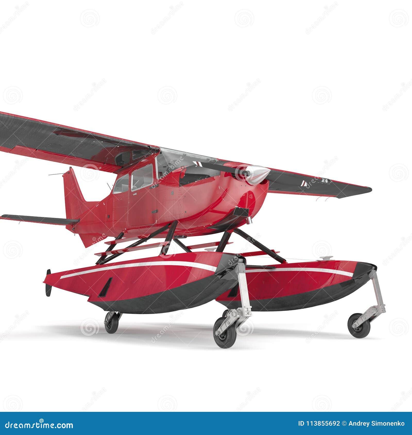 Hydroplane op wit 3D Illustratie