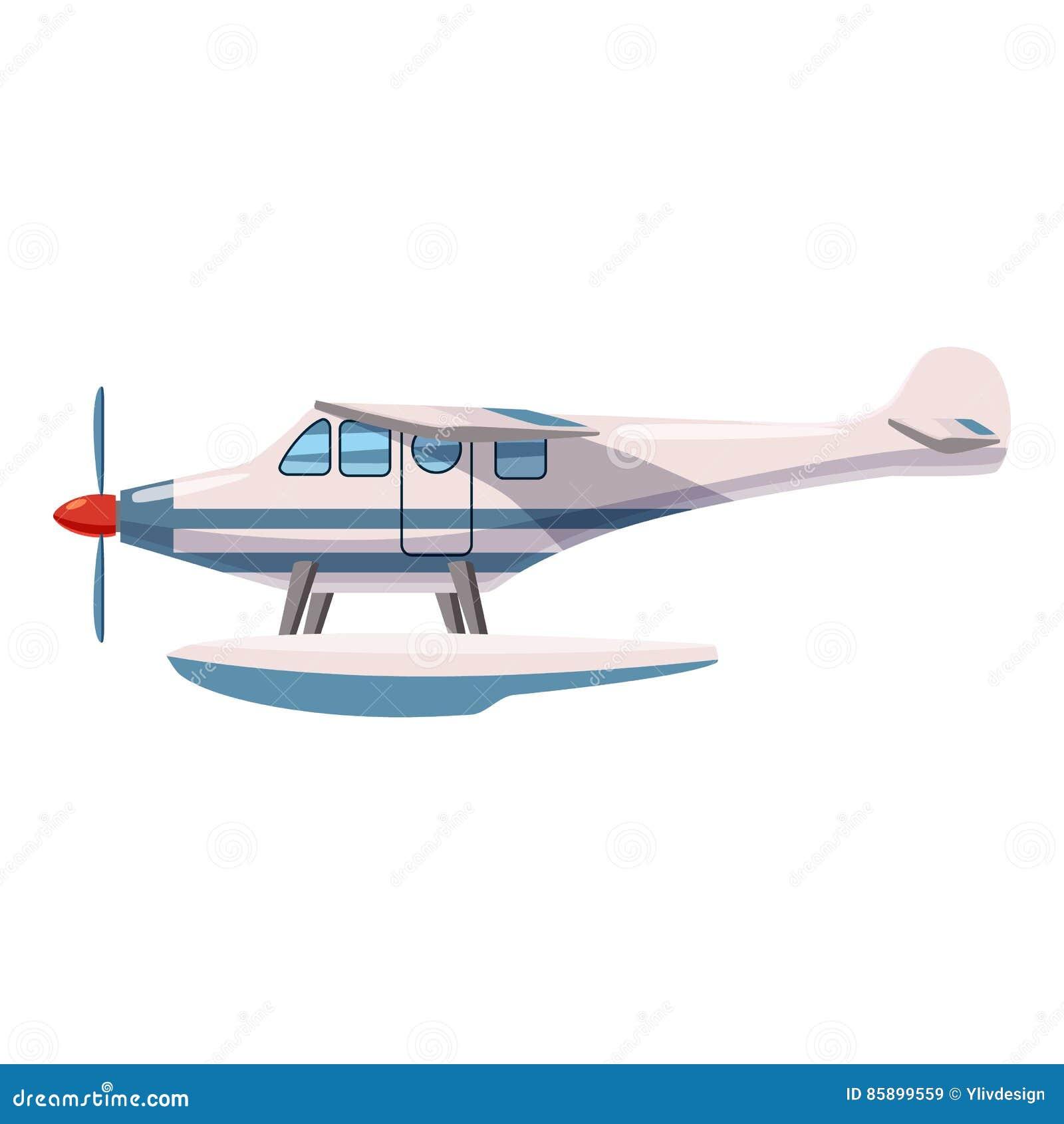 Hydroplane pictogram, beeldverhaalstijl
