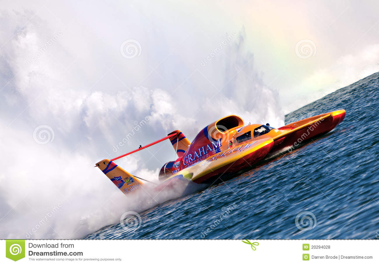 Hydroplane Racing editorial stock photo  Image of spray - 20294028