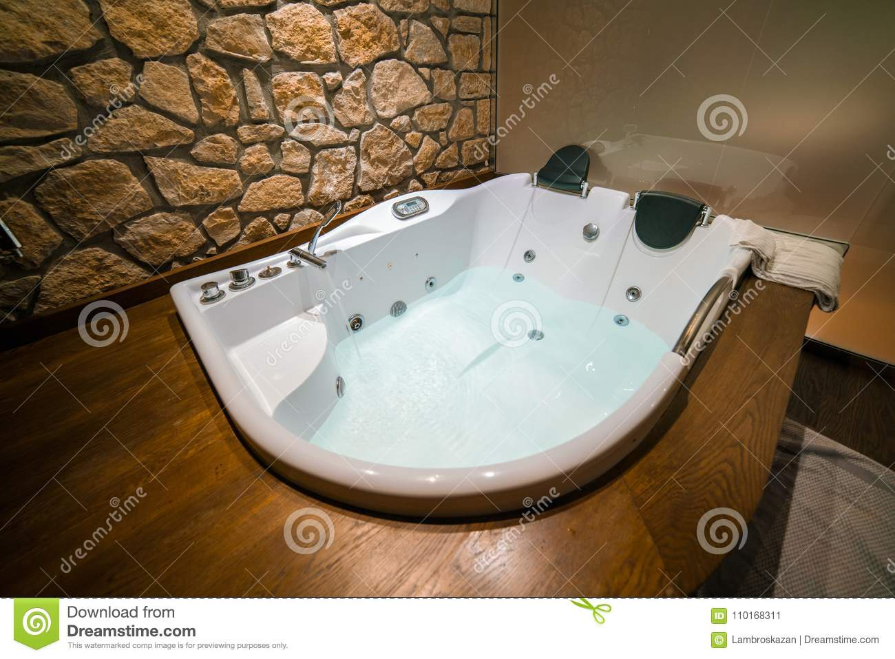 Hydrotherapy Jacuzzi Bath, Getting Ready Stock Image - Image of care ...