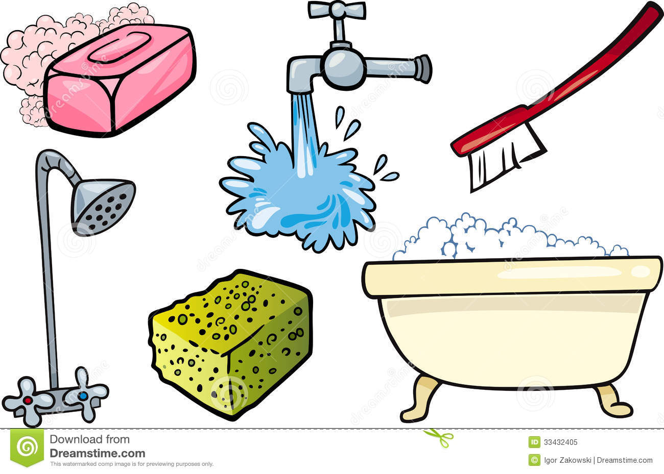 Bathroom Cleaning Clip Art