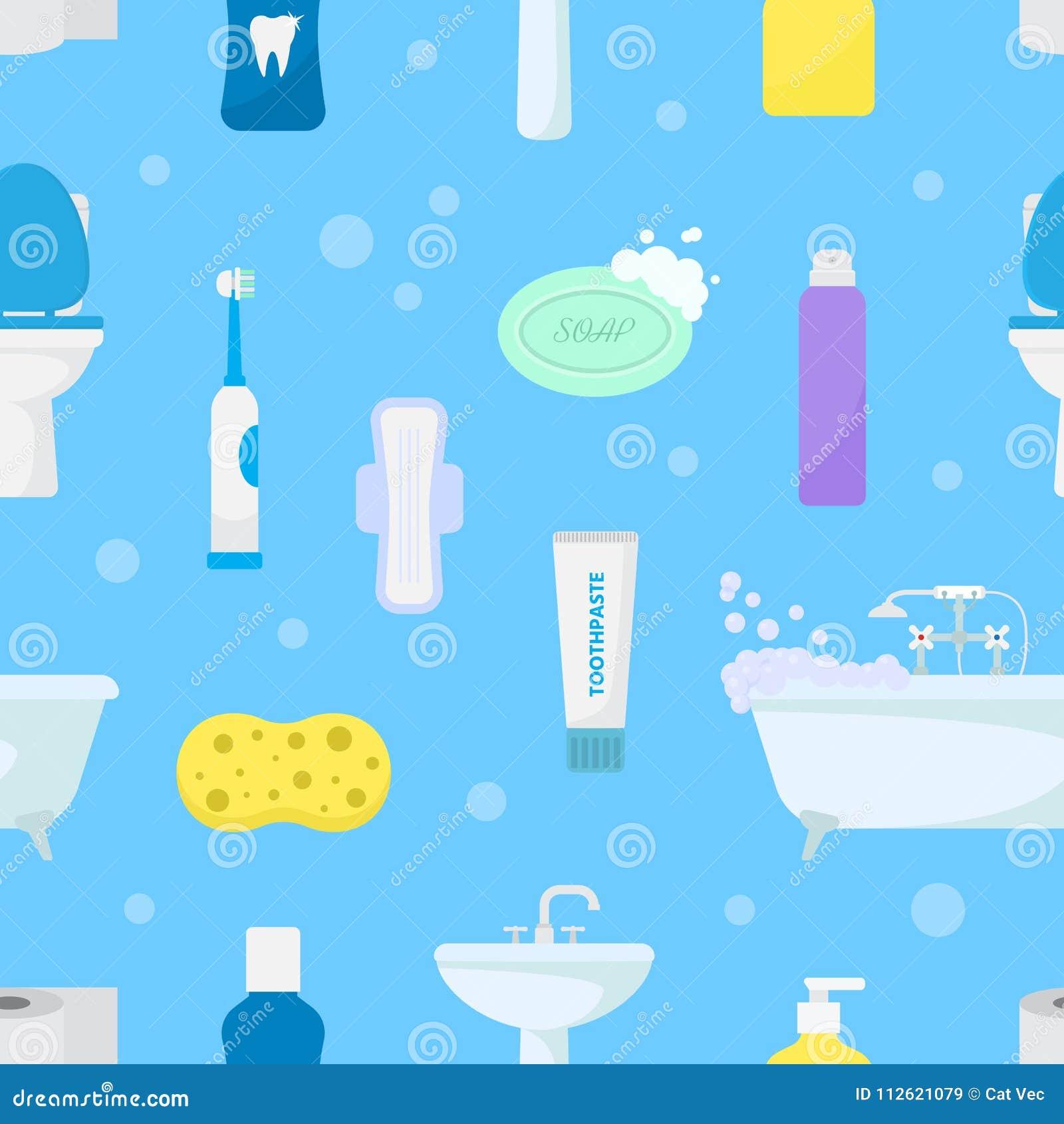 Hygiene Personal Care Vector Toiletries Set Of Hygienic Bath ...