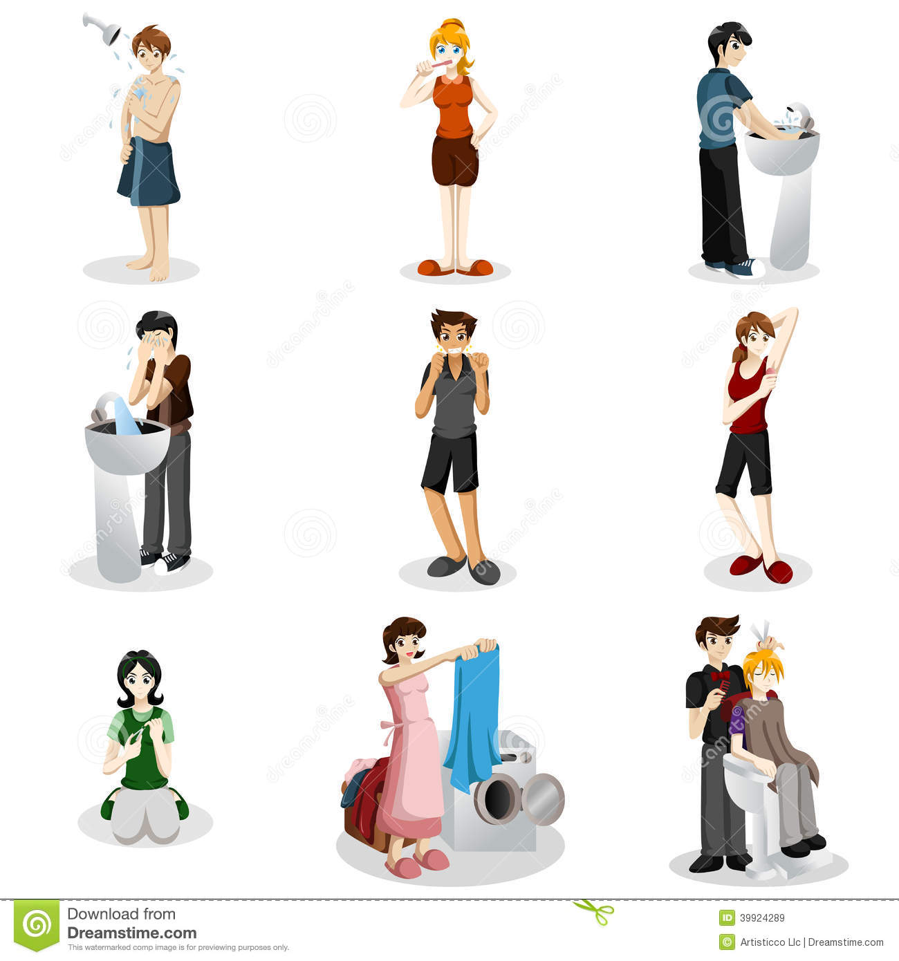 Hygienic People Stock Vector Image Of Clothes Nails
