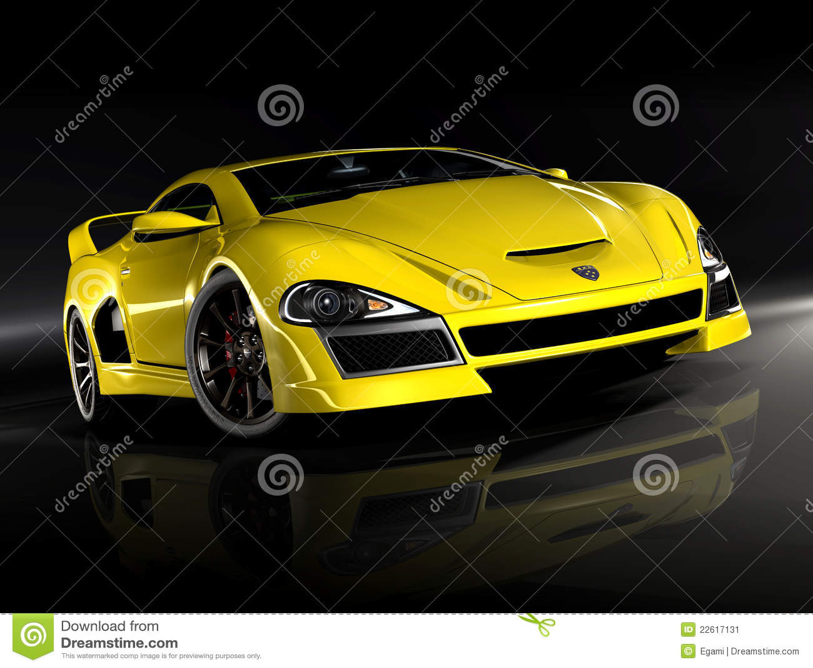 Hyper Car Yellow 2 Stock Image