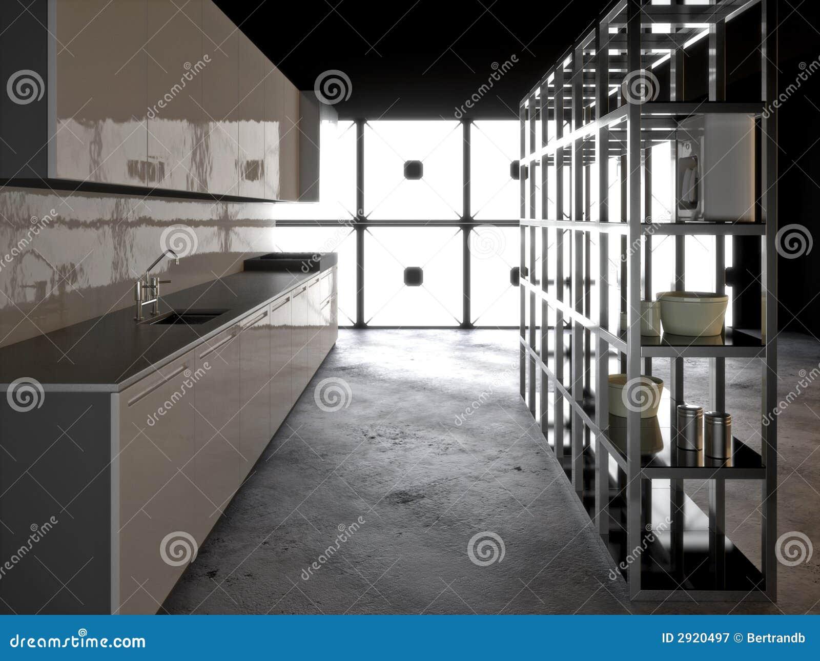 Hyper moderne keuken royalty vrije stock fotografie - Moderne keukenbank ...