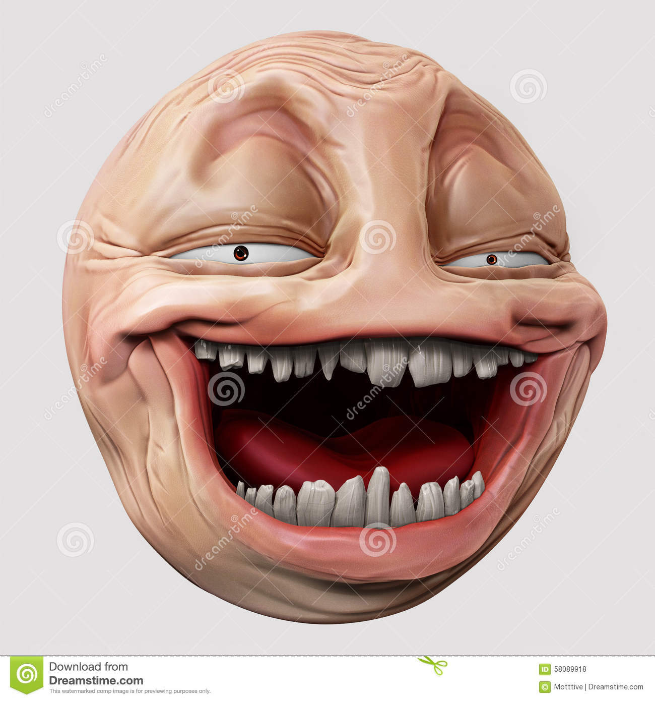 Stock Quotes Free Real Time: Hyper Troll 3d Illustration Stock Illustration