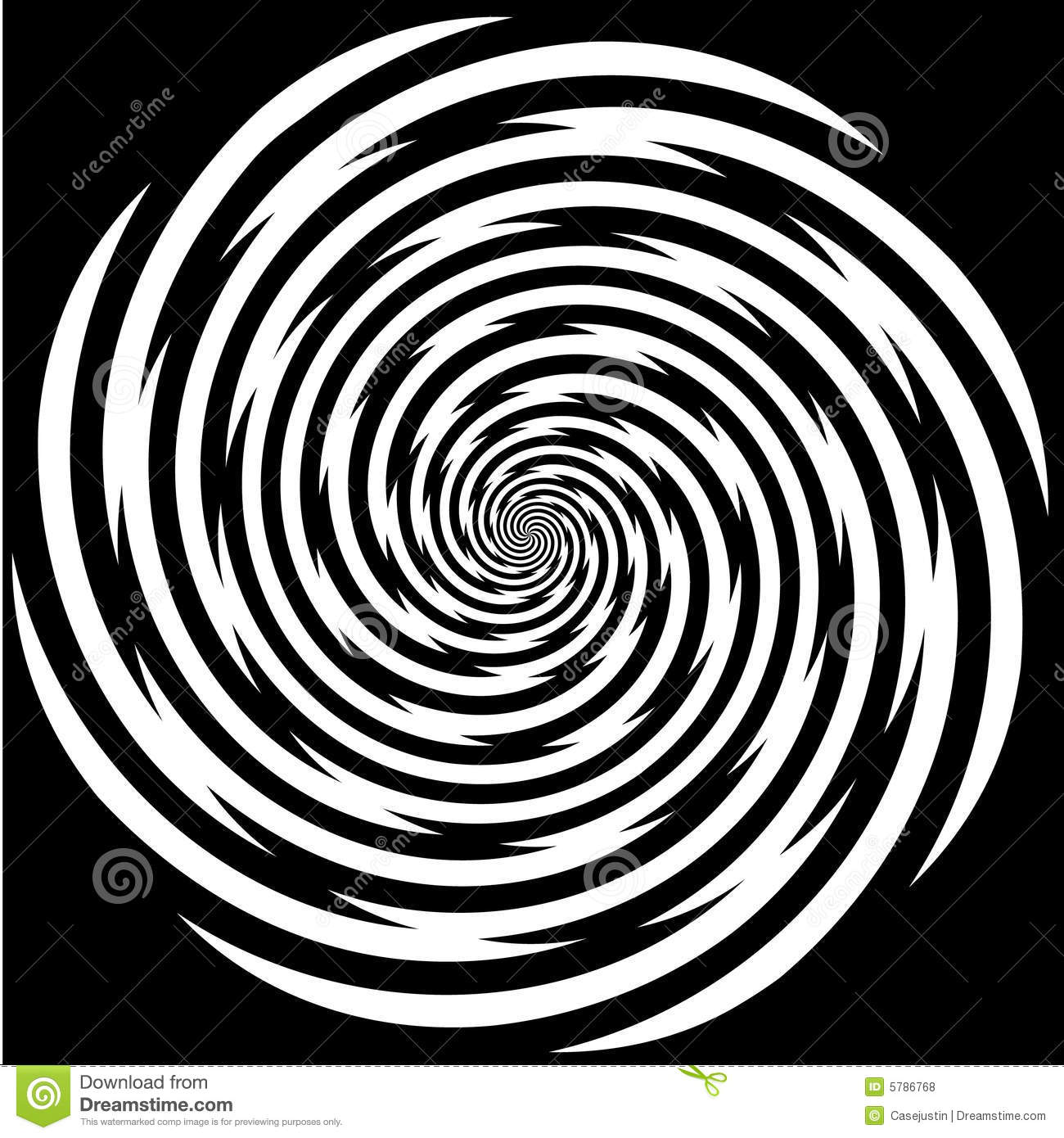 Hypnosis Spiral, Stress, Strain, Optical Illusion