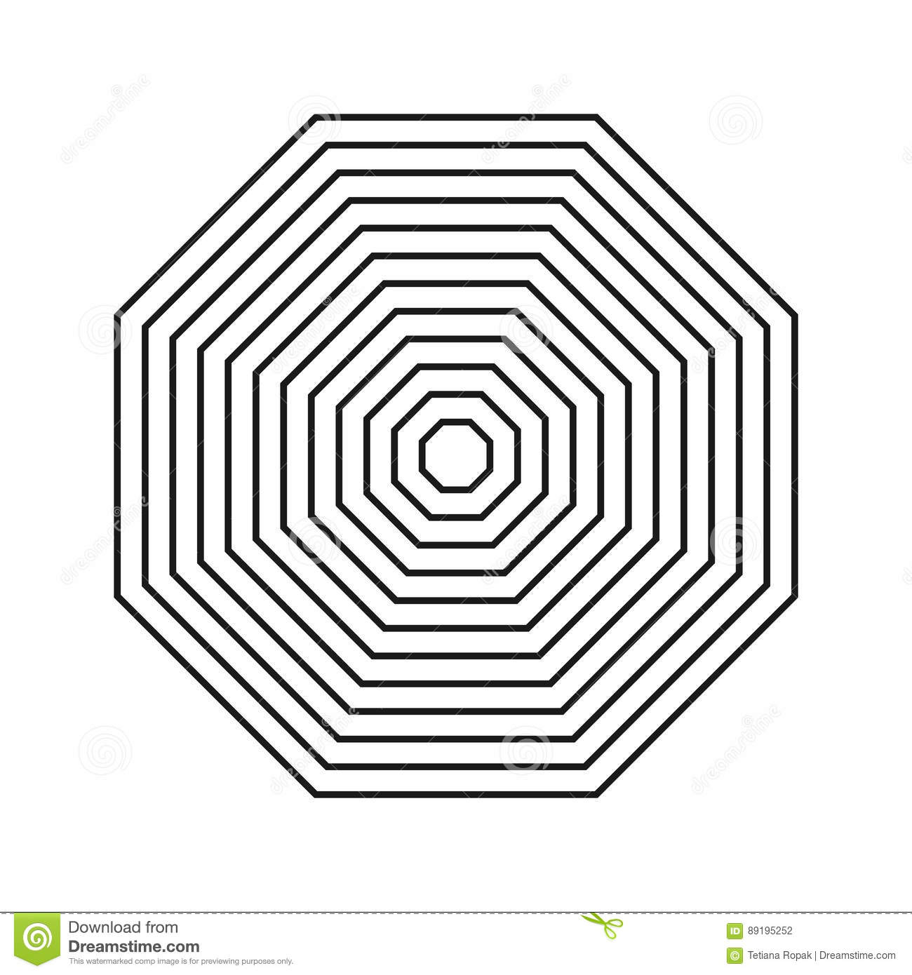 Hypnotic Fascinating Abstract Image. Vector Illustration. Geometric ...