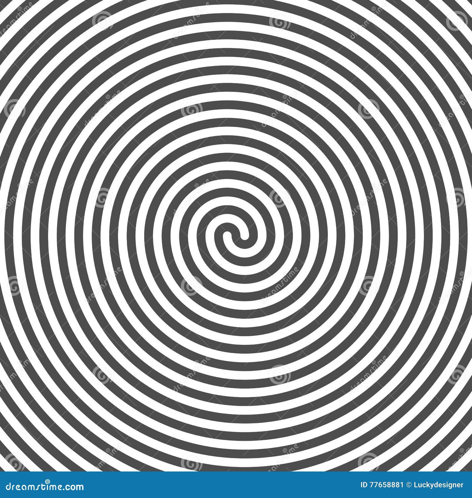 Hypnotic Spiral Background Vinyl Grooves Optical