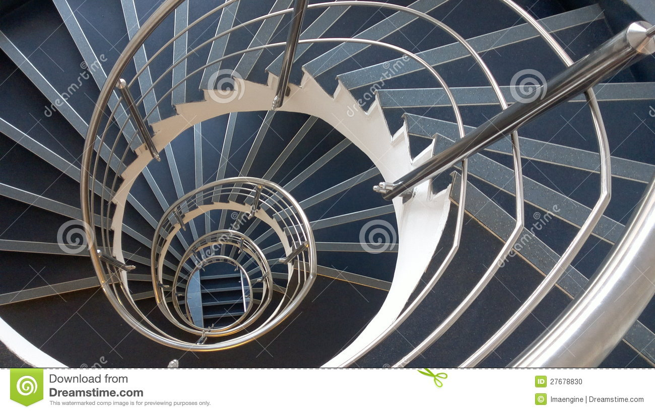 Download Hypnotic Spiral Stairs Abstract Stock Photo - Image of rails, angles: 27678830