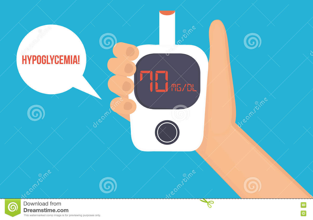 Hypoglycemia concept. stock vector. Image of blood