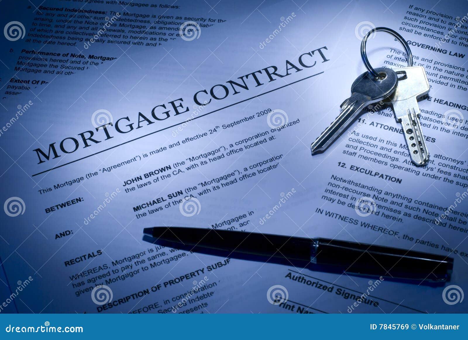 Hypothekenvertrag