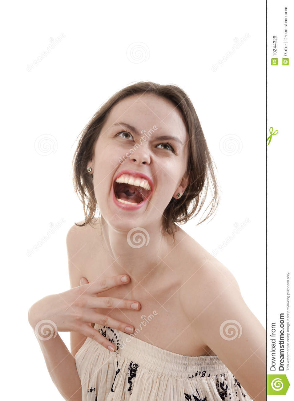 Hysteria stock photo. Image of cachinnation, lady, gesture