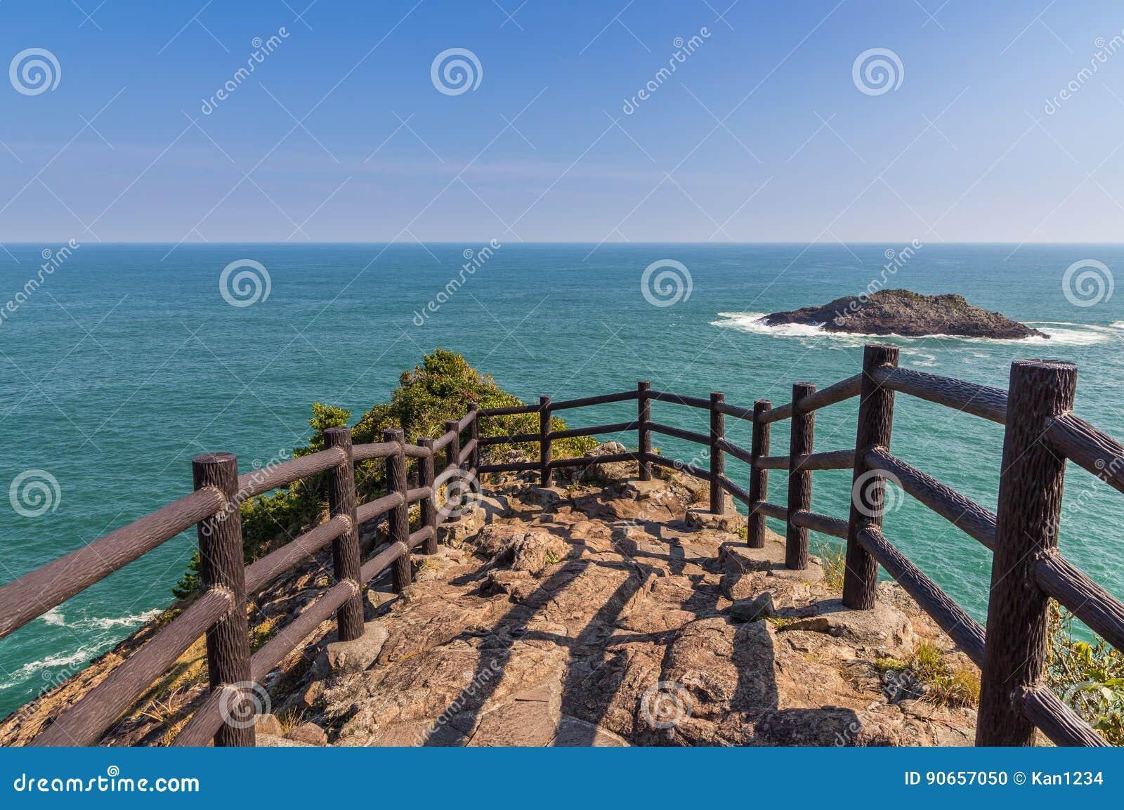 Hyuga海角美好的海岸线在宫崎,九州