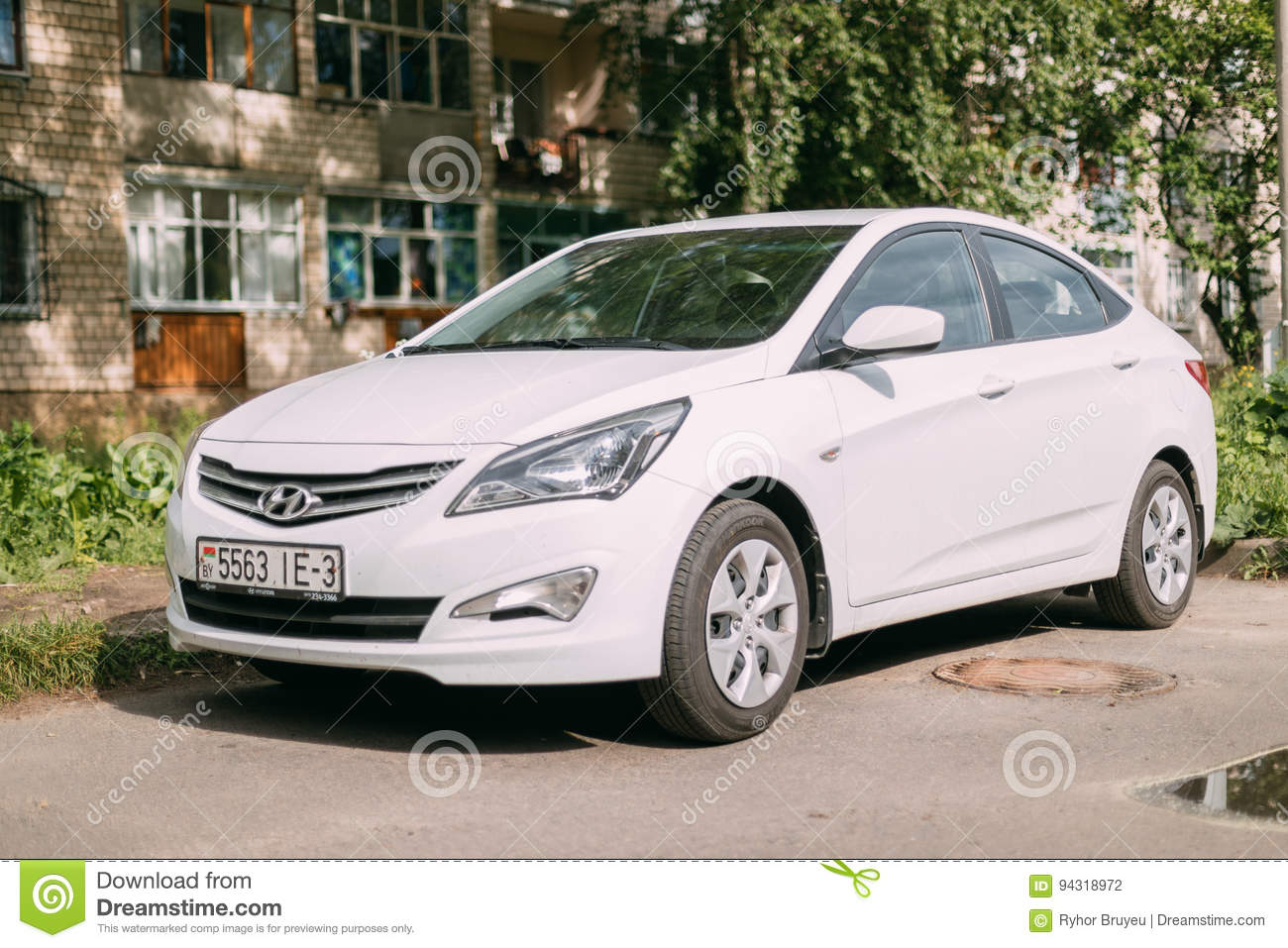 Hyundai Accent Verna Solaris Sedan Car Parked In Street Of Resid Editorial Photography Image Of Parking Asia 94318972