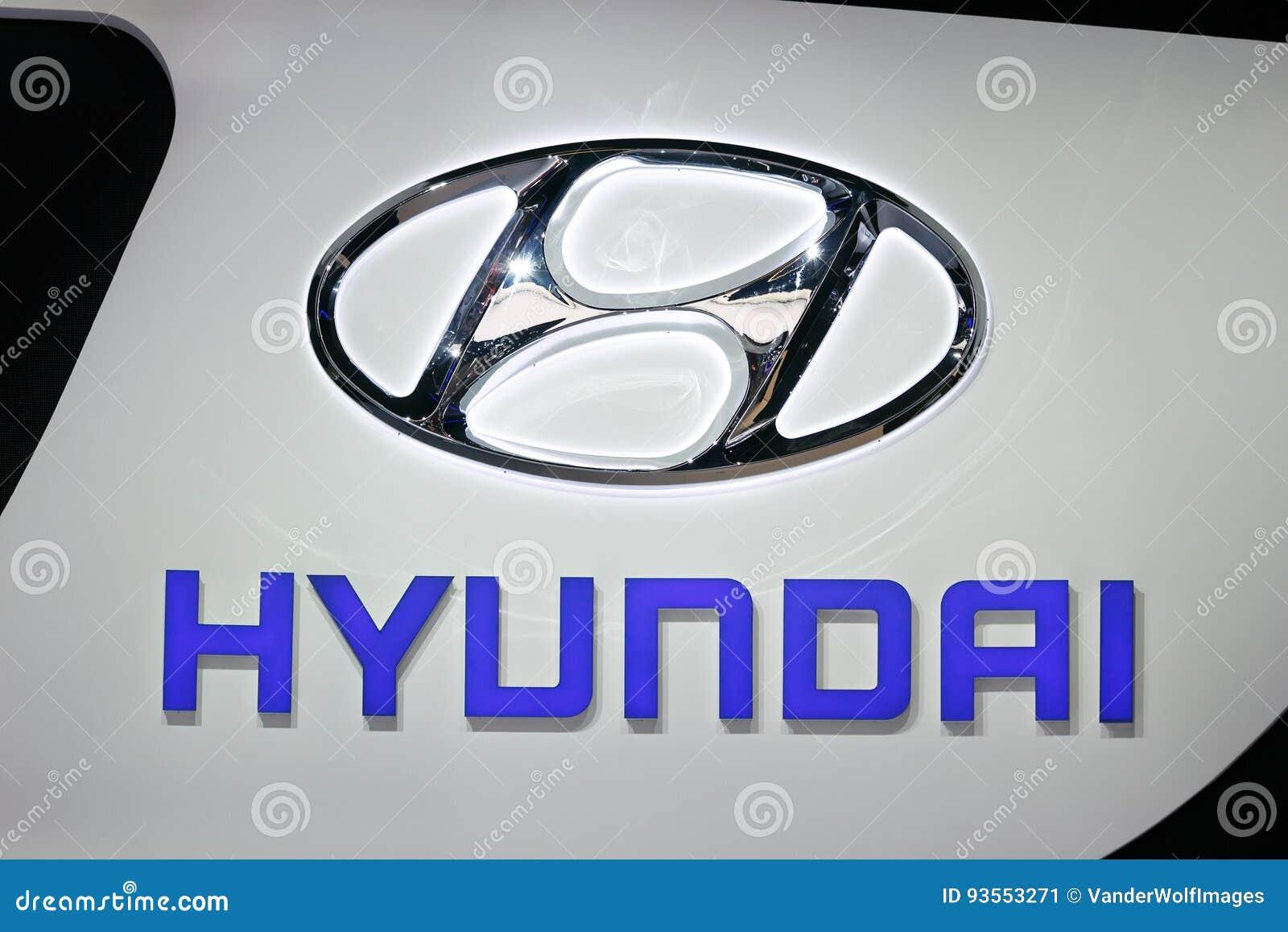 Hyundai Car Sign Editorial Photo Image Of Motorshow 93553271