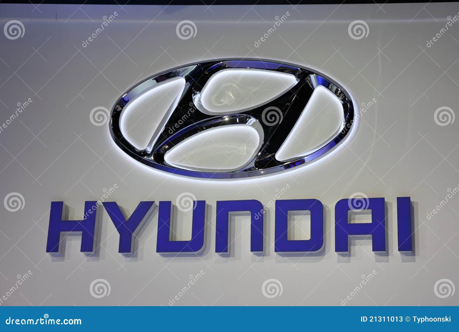 Hyundai Company Logo Editorial Stock Photo Image Of
