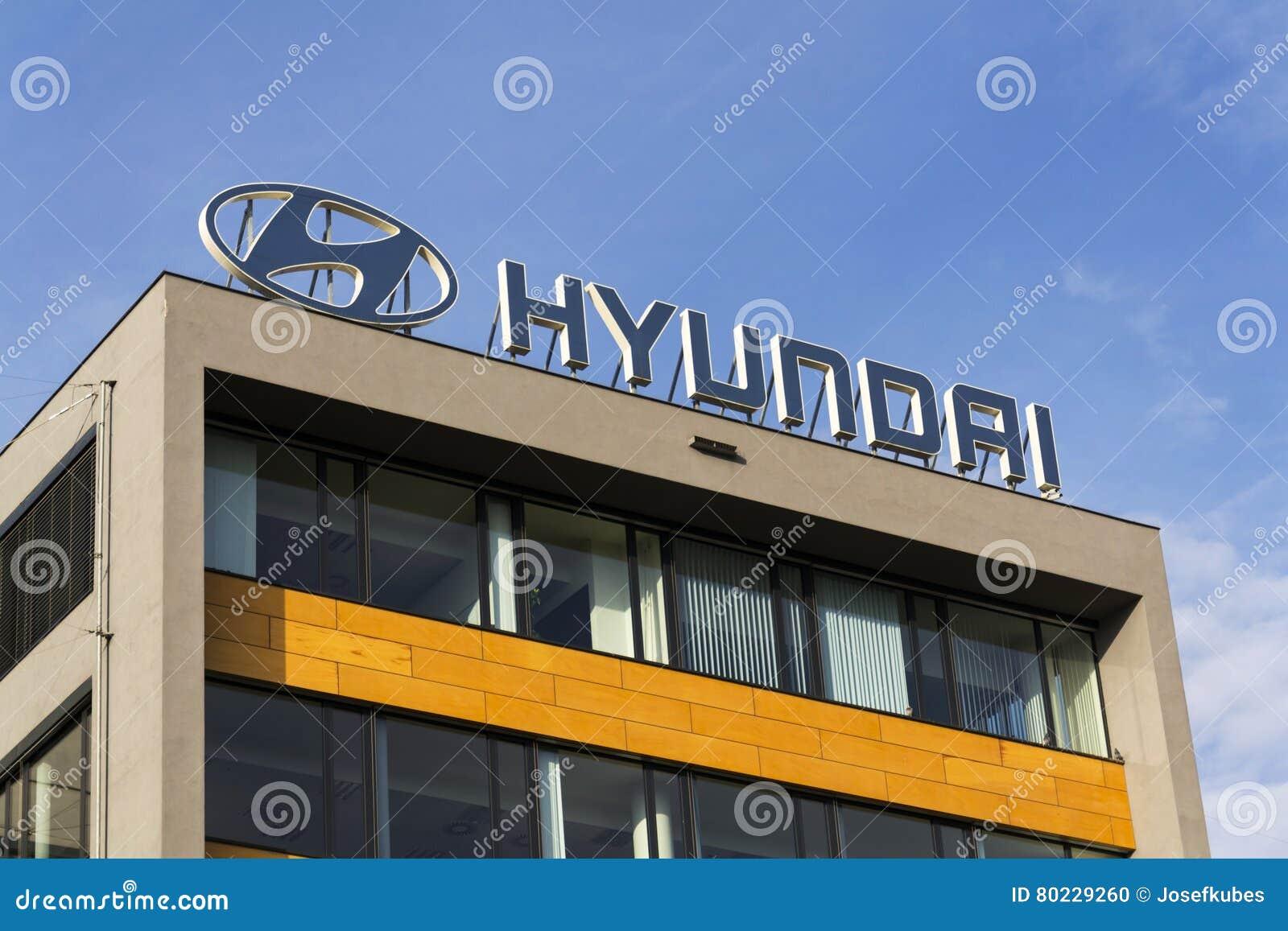 Hyundai Dealership Las Vegas >> Hyundai Company Logo On Czech Headquarters Editorial Image